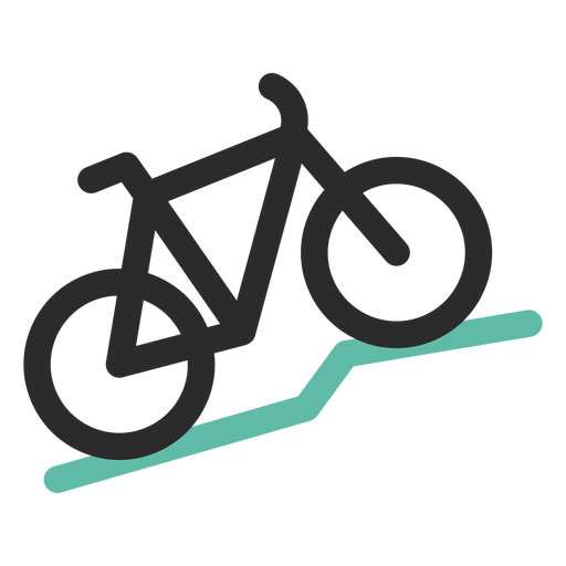 Mountain bike colored stroke icon Transparent PNG