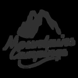 Logotipo de campings de montanha