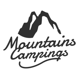 Logotipo de campings nas montanhas