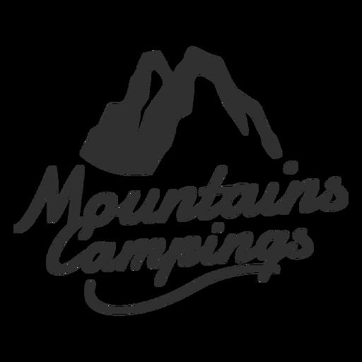 Logotipo de campings de montanha Transparent PNG