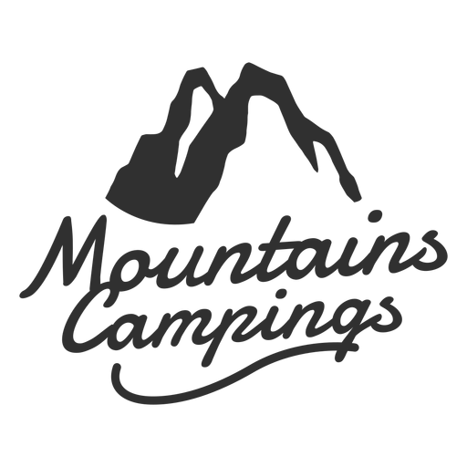 Mountain campings logo Transparent PNG