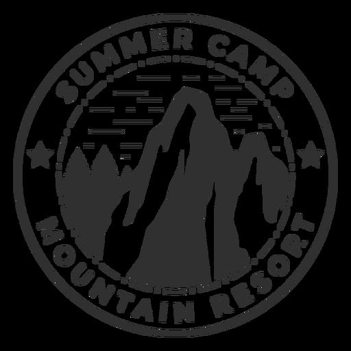 Logo de campamento de verano de montaña Transparent PNG