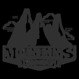 Logotipo de viagem de montanhas