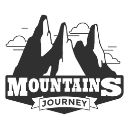 Logotipo de viaje de montañas