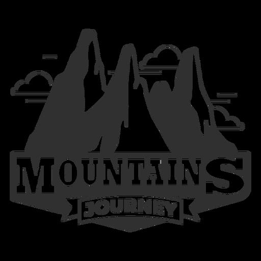 Logotipo de viaje de montañas Transparent PNG