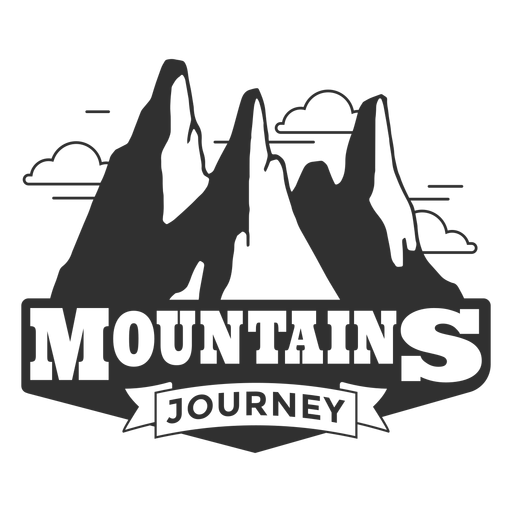 Mountains journey logo Transparent PNG