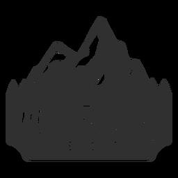 Logotipo de resort de montañas