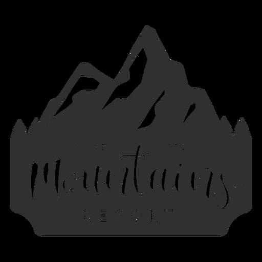 Mountains resort logo Transparent PNG