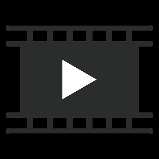 Icono plano de reproductor de películas Transparent PNG