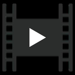 Reproductor de películas jugar icono plana