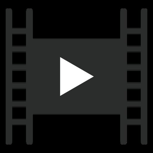 Reproductor de películas jugar icono plana Transparent PNG