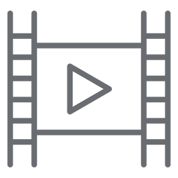 Movie player play stroke icon