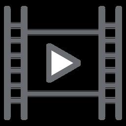 Reproductor de películas jugar icono de trazo
