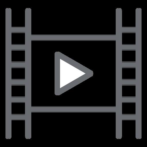 Ícone de traçado de reprodução de reprodutor de filme Transparent PNG