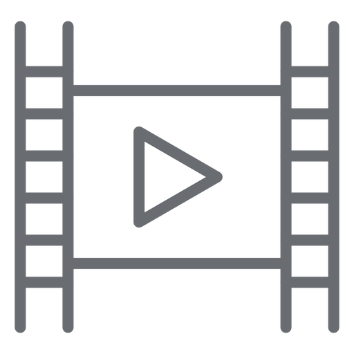 Movie player play stroke icon Transparent PNG