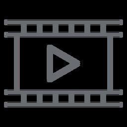 Icono de trazo de reproductor de películas