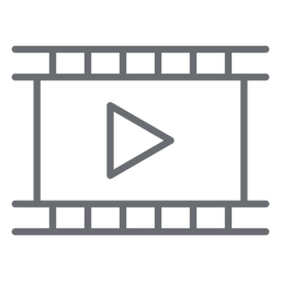 Movie Player Strich-Symbol