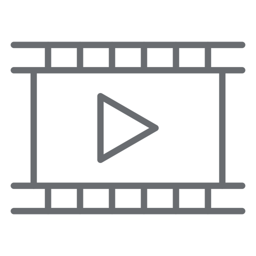 Movie player stroke icon Transparent PNG