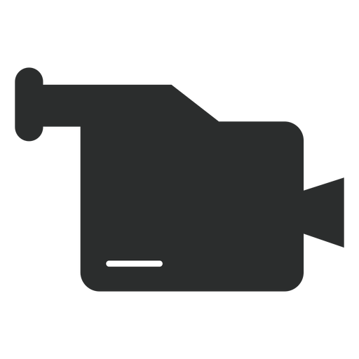 Ícone plana de filmadora multimídia Transparent PNG