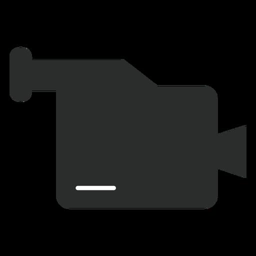 Icono plano videocámara multimedia Transparent PNG
