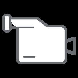 Icono de trazo de videocámara multimedia
