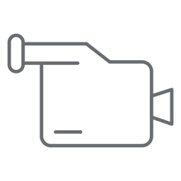 Multimedia camcorder stroke icon