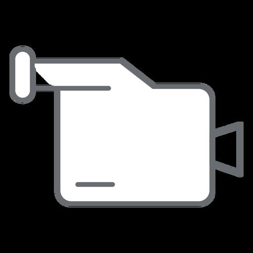 Ícone de traço de filmadora multimídia Transparent PNG