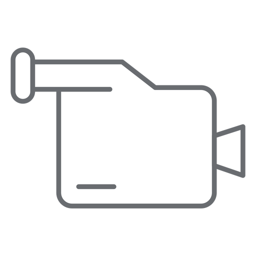 Multimedia camcorder stroke icon Transparent PNG