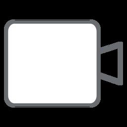 Icono de trazo de cámara multimedia