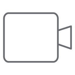 Multimedia camera stroke icon