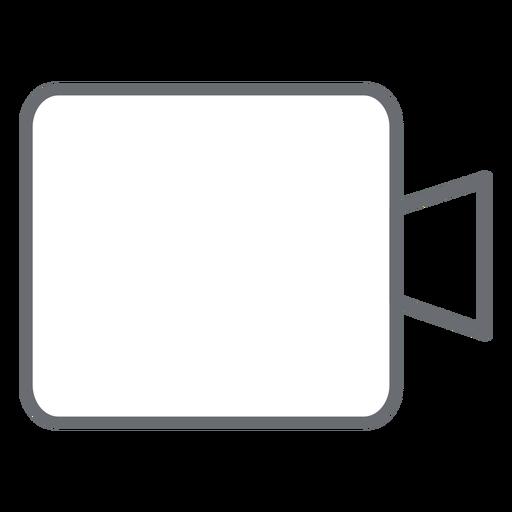 Icono de trazo de cámara multimedia Transparent PNG