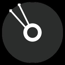 Icono plano de disco compacto multimedia