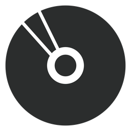 Multimedia compact disk flat icon