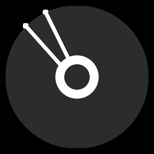 Ícone plana de disco compacto multimídia Transparent PNG