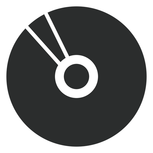 Multimedia compact disk flat icon Transparent PNG