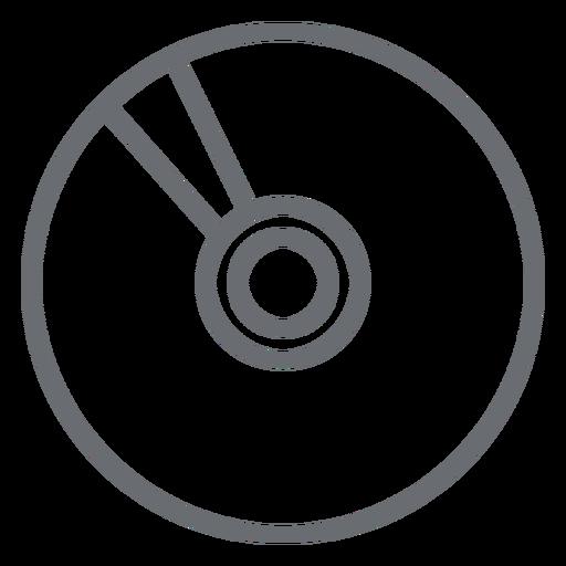 Icono de trazo de disco compacto multimedia Transparent PNG