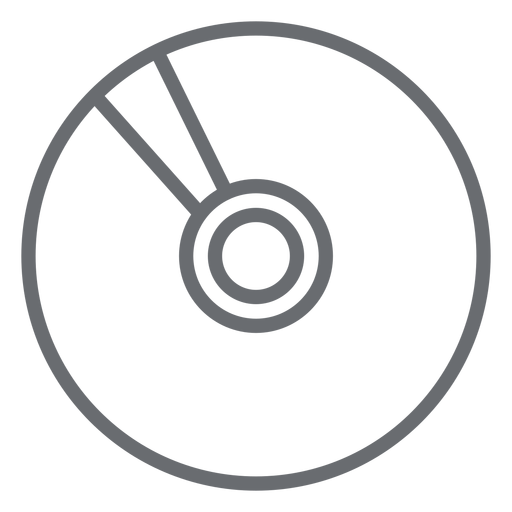 Multimedia compact disk stroke icon Transparent PNG