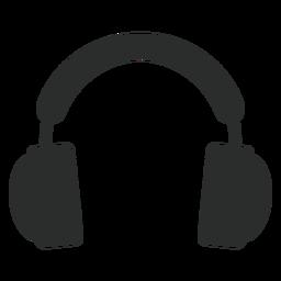 Icono plano de auriculares multimedia