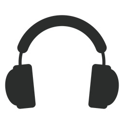 Multimedia headphones flat icon