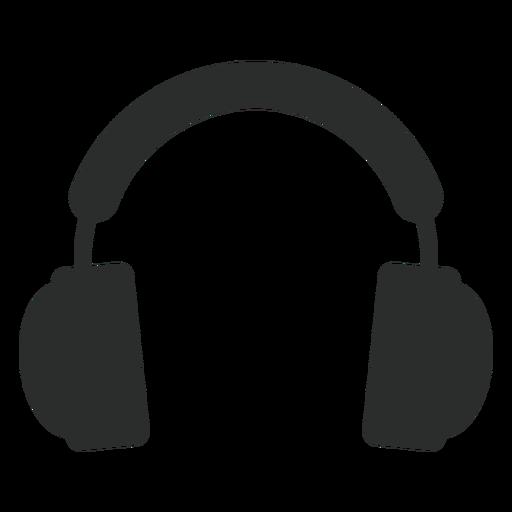 Ícone plana de fones de ouvido multimídia Transparent PNG