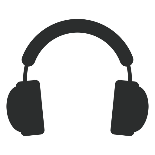 Multimedia headphones flat icon