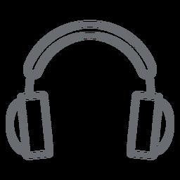 Ícone de traçado de fones de ouvido multimídia