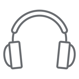 Multimedia headphones stroke icon
