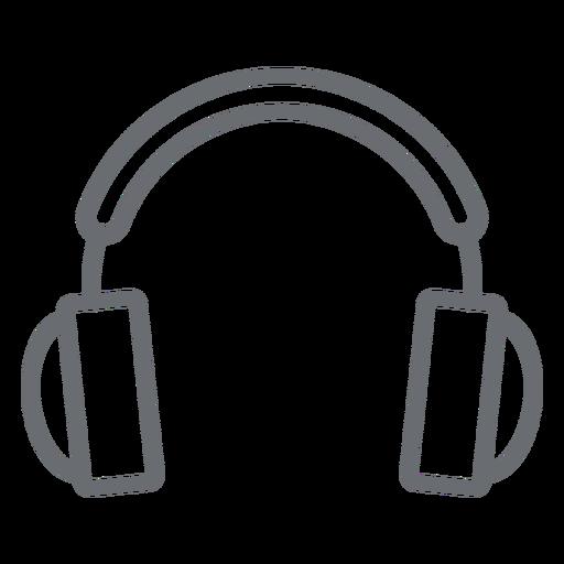 Auriculares multimedia icono de trazo Transparent PNG