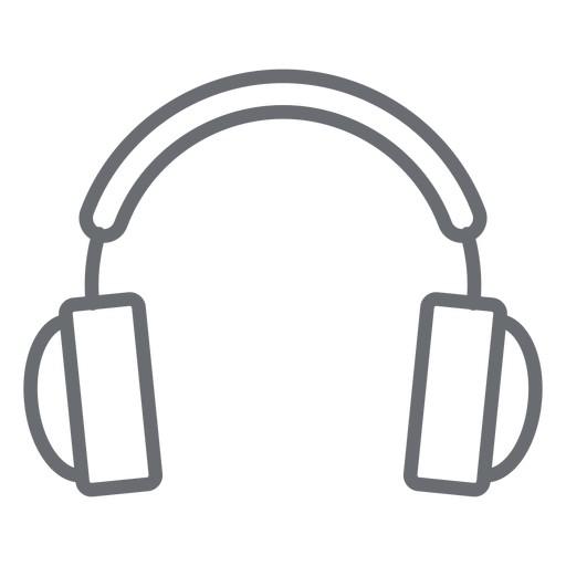 Multimedia headphones stroke icon Transparent PNG