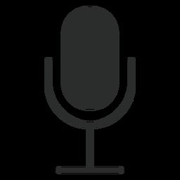 Icono plano de micrófono multimedia