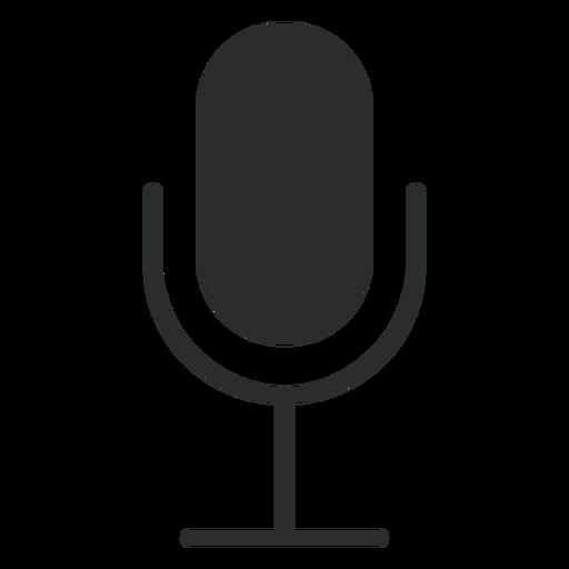 Ícone plano do microfone multimídia Transparent PNG
