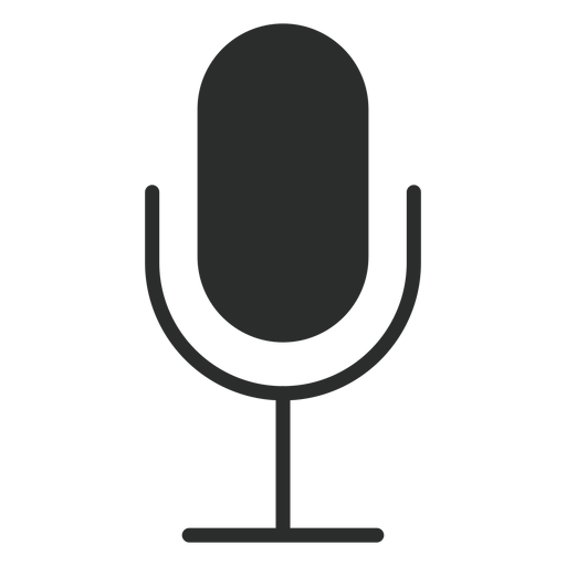 Icono plano de micrófono multimedia Transparent PNG