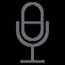 Ícone de traçado de microfone multimídia
