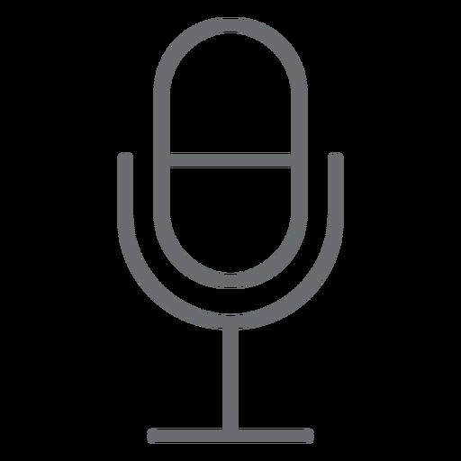 Icono de trazo de micrófono multimedia Transparent PNG